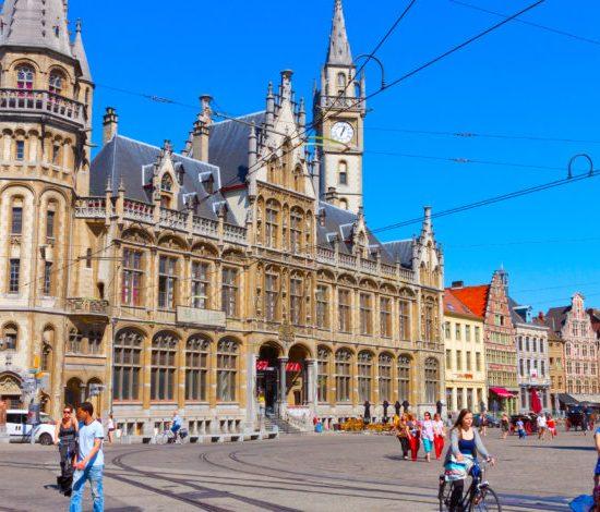 Casco histórico de Ghent, Bélgica