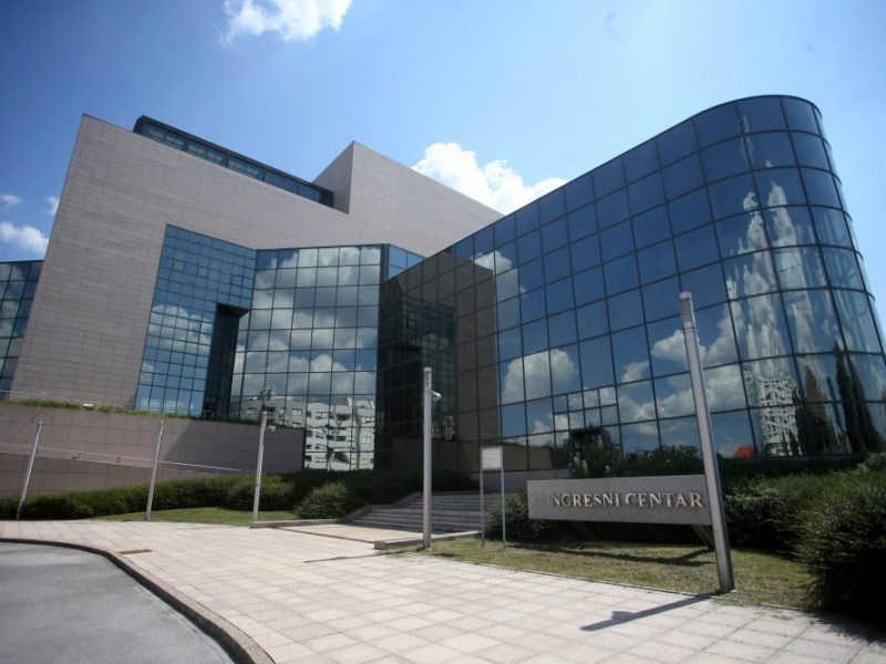 National Library in Zagreb, Croacia